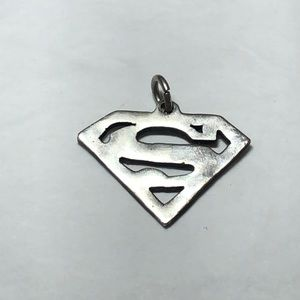 Jewelry - Superman Pierced Coin Silver Pendant